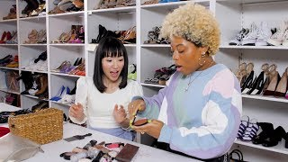 Marie Kondo Cleans Out Beauty Editors' Makeup Bags! | Cosmopolitan