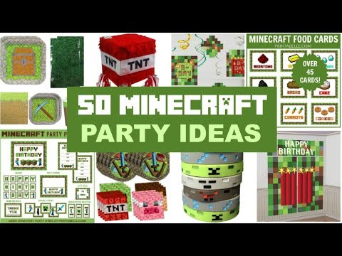 50 Minecraft Party Ideas And Supplies!