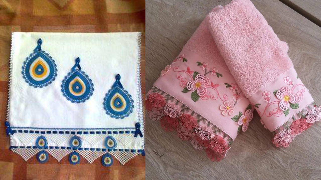 Toalla con aplicaciones tejidas en crochet youtube - Aplicaciones en crochet ...