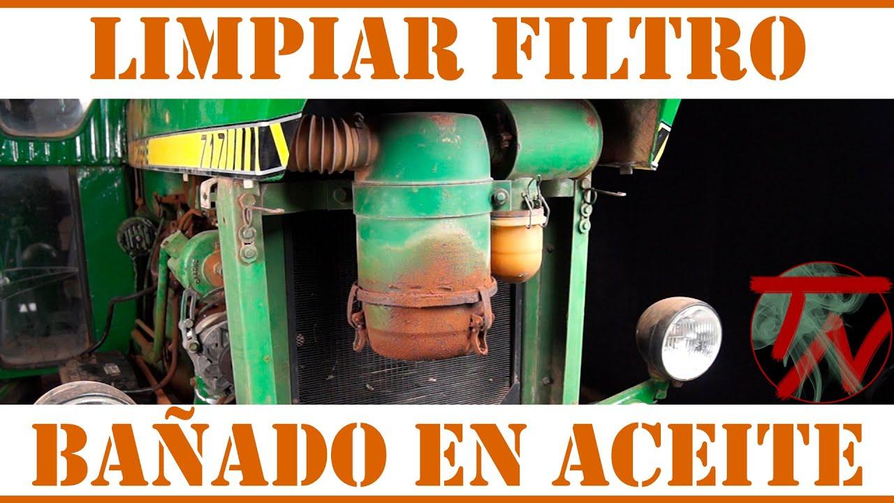 Limpiar filtro de aire ba ado en aceite tractor youtube - Filtros para la cal ...