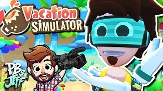 Vacation Simulator (HTC Vive) | BEACH VACATION! (Part 1)