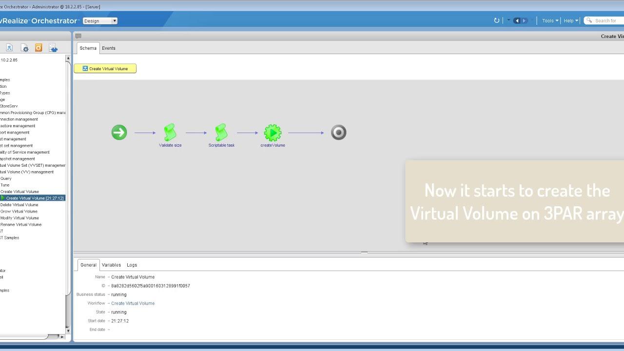 HPE 3PAR plugin for VMware vRealize Orchestrator