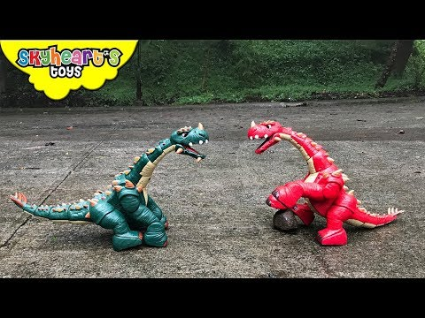 DINOSAUR FIGHT Part 2 | Red vs. Green Apatosaurus Battle Dinosaurs for kids toys