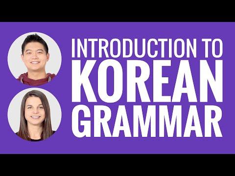 Introduction to Korean Grammar