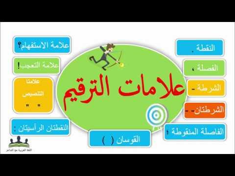 علامات الترقيم فى اللغة العربية بالأمثلة Youtube