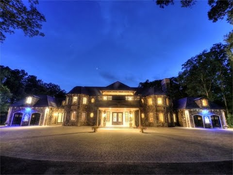 Exquisite Stone Mansion in Saddle River, New Jersey
