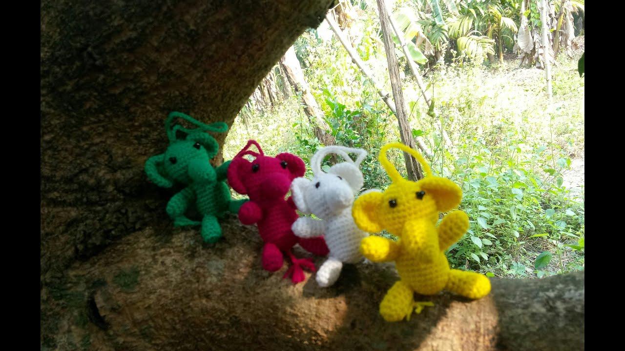 Cute Elephant - Crochet keychain - Elephant Amigurumi Keyring ... | 720x1280