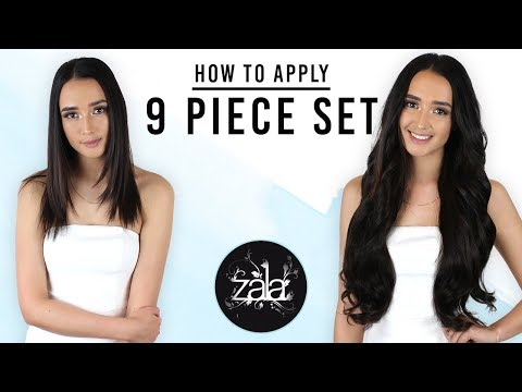 How to apply the ZALA 9 piece set | ZALA Clip In Hair Extensions