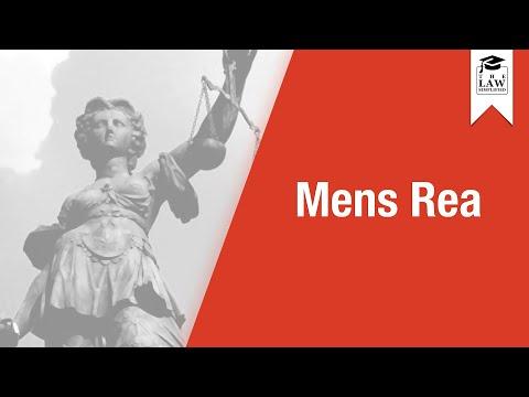 Criminal Law - Mens Rea