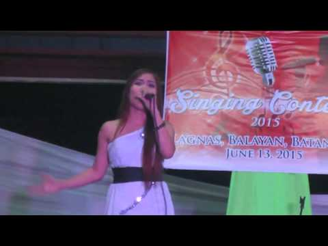 Jennelyn Comia sings Ikaw lang ang Mamahalin @ Lagnas, Balayan, Batangas JUNE 2015   3RD PLACE