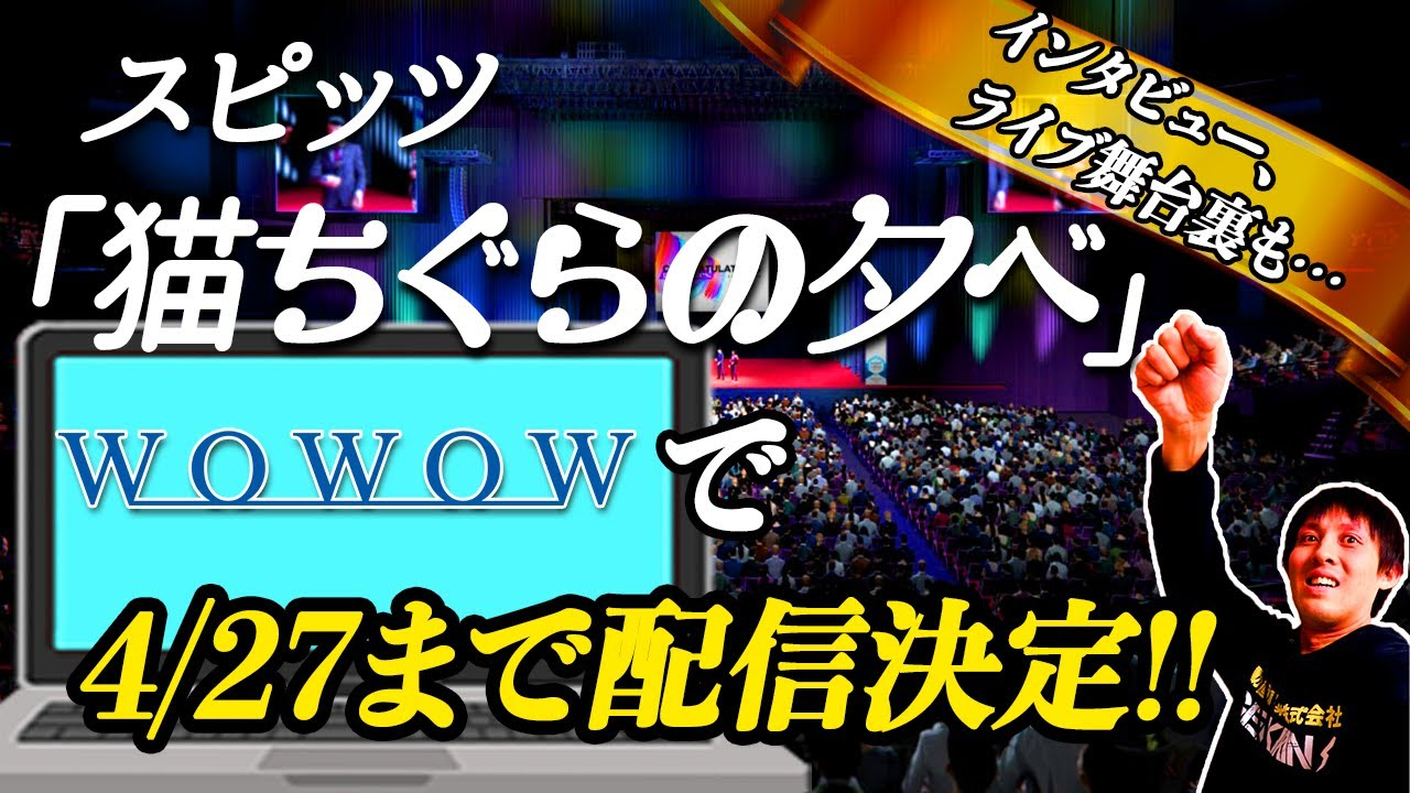 スピッツ「猫ちぐらの夕べ」スペシャルエディション見所3選!!4/27(火)までの一ヶ月間見逃し配信決定!!!