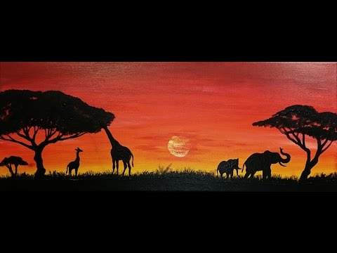 Savana painting -- African SPEED painting