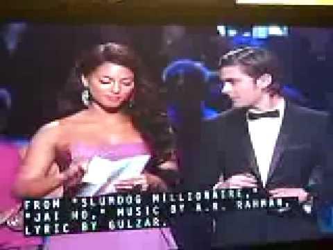 OSCAR AWARDS 2009 - AR RAHMAN - GULZAR- RESUL POOKUTTY-DANNY BOYLE-SIMON BEAUFOY SLUMDOG MILLIONAIRE
