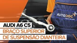 Como substituir um braço superior de suspensão dianteira no AUDI A6 C5 [TUTORIAL]