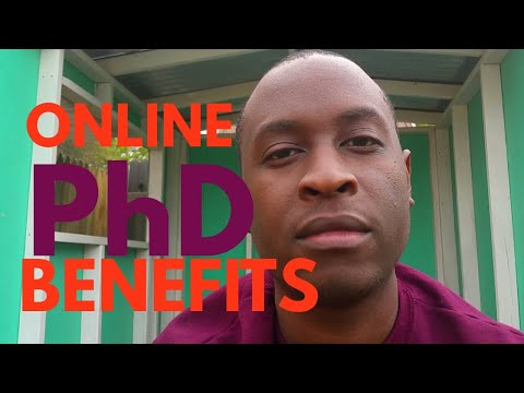 Benefits of an Online PhD Program