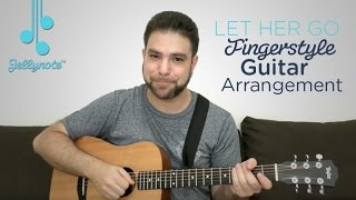 Let Her Go by Passenger - Fingerstyle Guitar Tutorial (Jellynote Lesson)