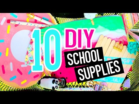 10 DIY School Supplies! DIY Crafts for Back to School with  SARA BEAUTY CORNER!