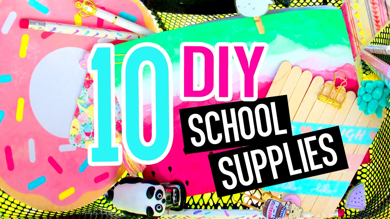 10 diy school supplies diy crafts for back to school with for What craft should i do