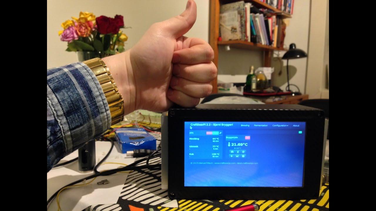 CraftBeerPi touchscreen