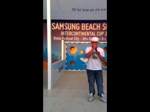 Fabio beatbox performing at Samsung event in Dubai festival