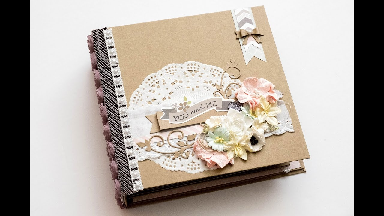 Relationship or wedding scrapbook mini album hd