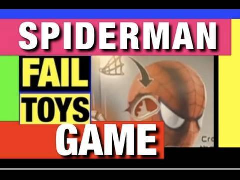 FAIL Spiderman Spider-man OPERATION FAIL Toy Funny Video Review Mike Mozart JeepersMedia Epic