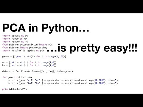 StatQuest: PCA in Python - YouTube