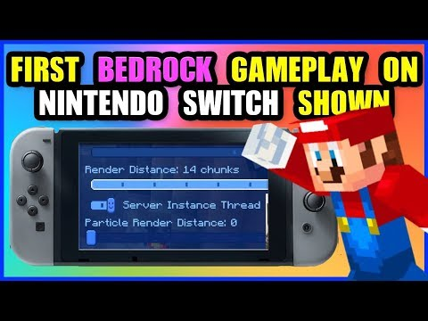 "FIRST GAMEPLAY  Minecraft Bedrock Update  Nintendo Switch ""Better together"" & New Features"