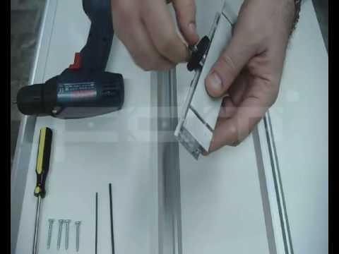 instrucciones para el armado de las puertas del frente corredizo ... - Perfiles De Aluminio Para Puertas De Bano
