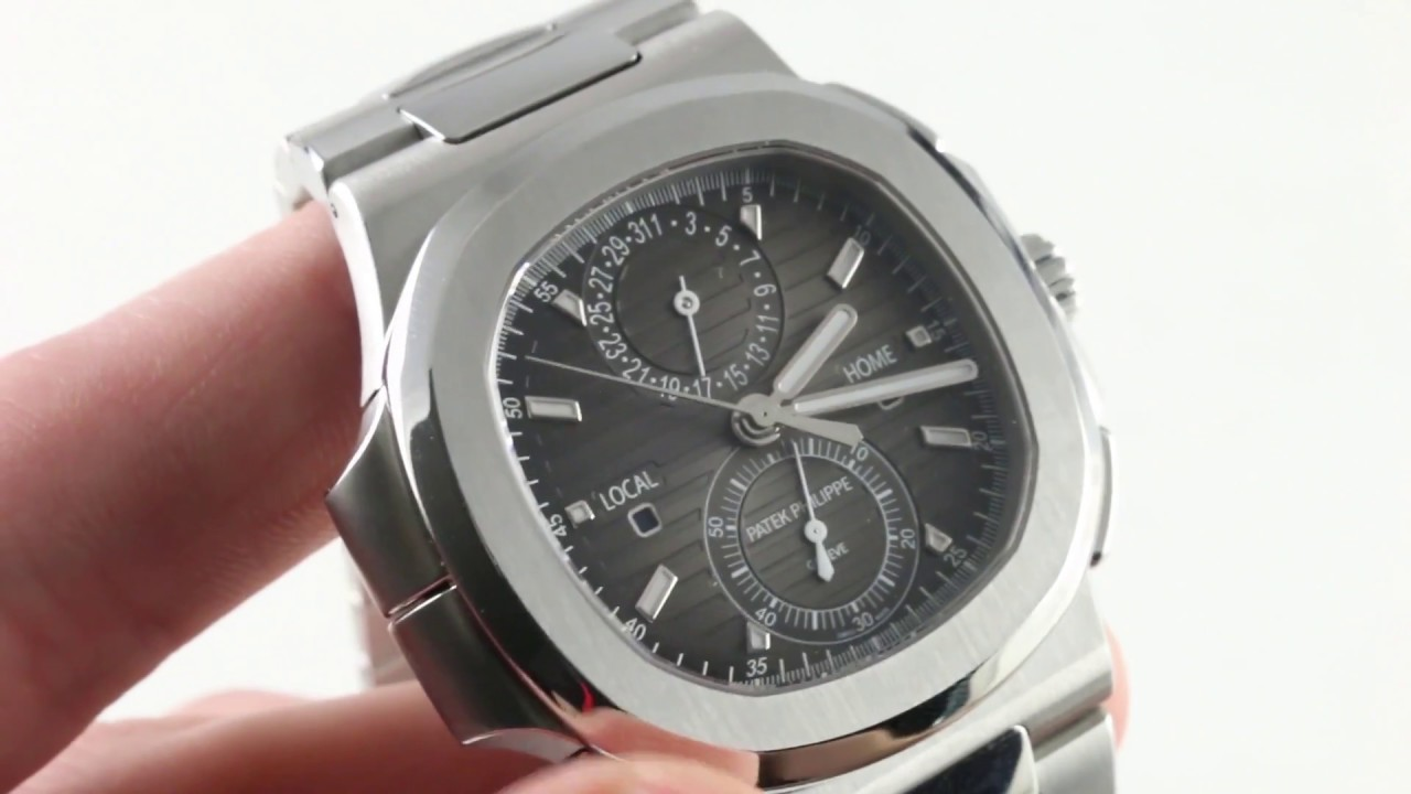 6d296ddb8866e Patek Philippe Nautilus Travel Time Chronograph 5990/1A-001 Luxury Watch  Review