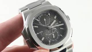 Patek Philippe Nautilus Travel Time Chronograph 5990/1A-001 Luxury Watch Review