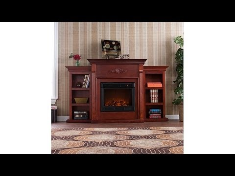 Tennyson Electric Fireplace w Bookcases
