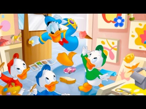 disney-find-'n-seek-game-app-with-donald-duck-at-the-gallery-searching-for-hidden-objects-&-stickers