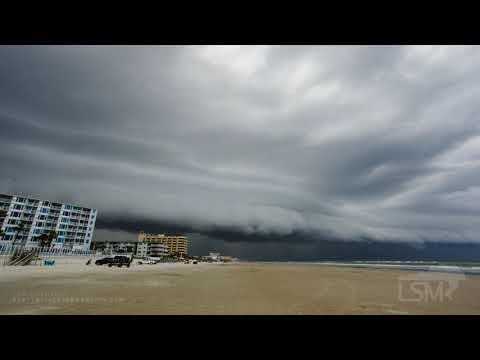07-06-2020 New Smyrna Beach, FL - Shelf Cloud Forming Over Beach