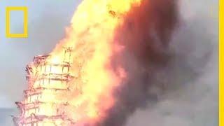 La plus grande pagode d'Asie prend feu