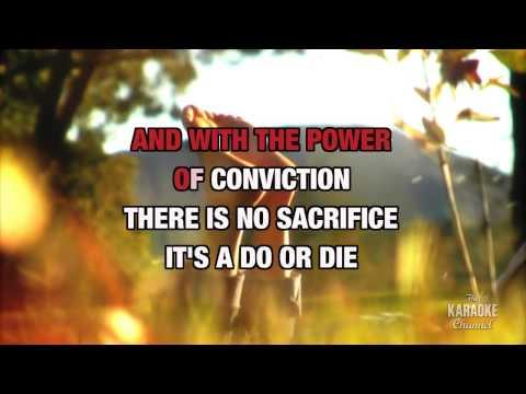 Invincible in the style of Pat Benatar | Karaoke with Lyrics