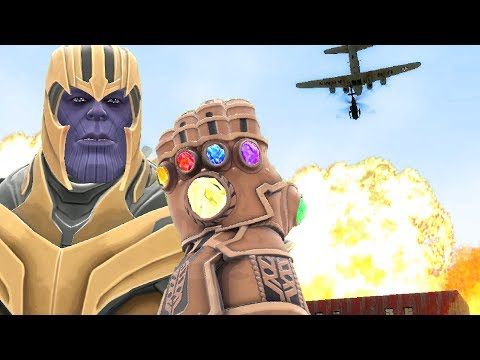 Can Thanos' INFINITY GAUNTLET Survive BOMBS From The Artillery Mod In Gmod?