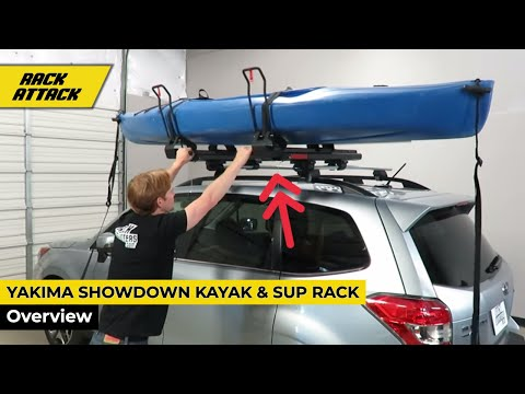Yakima ShowDown Kayak and SUP Lift Assist Roof Rack Carrier Review Demonstration