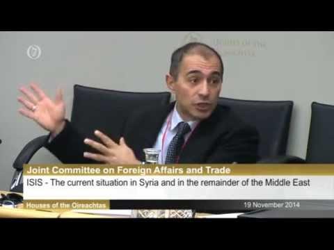 Nader Hashemi Testifies before the Irish Parliament