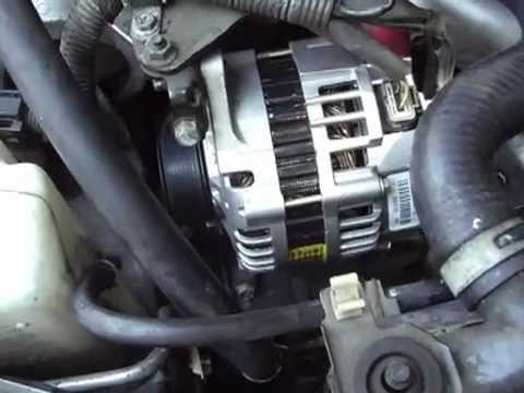 2001 Nissan Altima Alternator Replacement Youtube