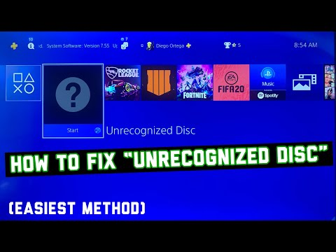 """How To Fix """"Unrecognized Disc"""" On PS4! (EASIEST METHOD) (TAKES 10 SECONDS)"""