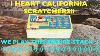 PLAYING ALMOST 100X I Heart California $1 California Lottery Scratchers | Keph Empire