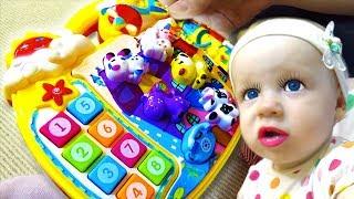 Учим ЦИФРЫ и ЖИВОТНЫХ Вместе с Анетти МУЗЫКАЛЬНАЯ Игра Для Детей Малышей Песенки Стишки Для Детей