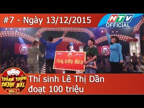 HTV Thách thức Danh hài Mùa 2  Tập 7 Full HD Trấn Thành phục thí sinh đoạt 100 triệu  TTDH 13/12/216
