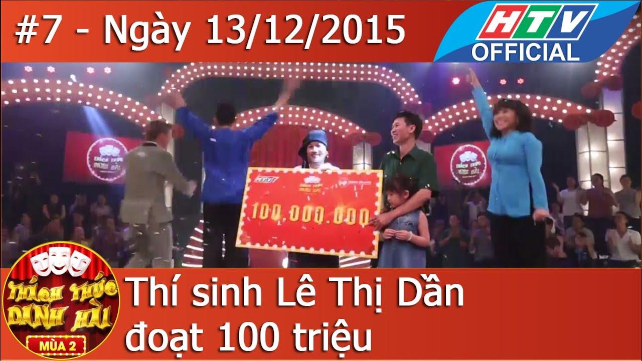 HTV Thách thức Danh hài Mùa 2 |Tập 7 Full HD Trấn Thành phục thí sinh đoạt 100 triệu| TTDH 13/12/216