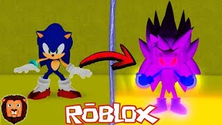THE AICAN TRANSFORMATION OF SONIC IN ROBLOX SONIC UNIVERSE IN ROBLOX LEON PICARON