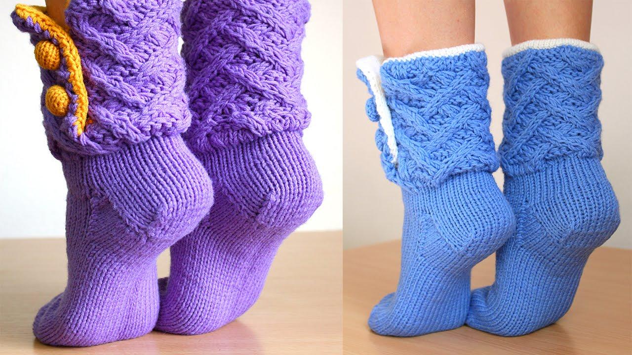Как вязать пятку у носка