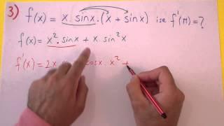 Türev Soru Çözümü Şenol Hoca Matematik