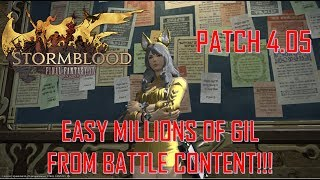 Final Fantasy XIV: Stormblood - Easy Gil Making From Battle Content Tomestones of Verity
