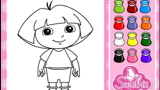 Dora The Explorer Coloring Game Play thumbnail